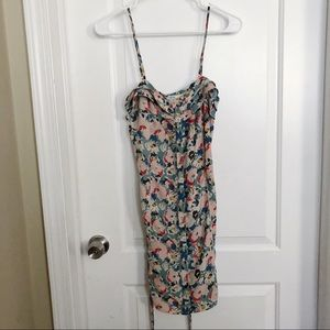 Floral muted pink dress